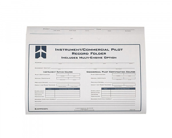 Instrument/Commercial Record Folder - Jeppesen